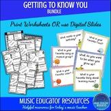 Getting to Know You Music BUNDLE   Digital and Printable