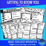 Getting to Know You   Music Edition   Editable and Reproducible