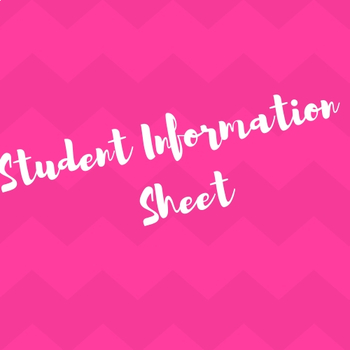 Getting to Know You - New Student Info