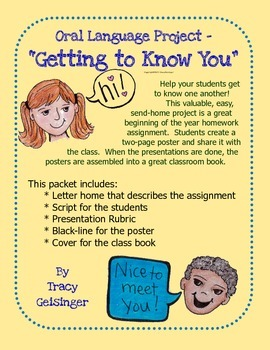 Getting to Know You,  Oral Report, Homework & Class Book