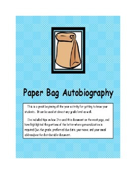 Getting to Know You Paper Bag Autobiography
