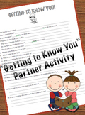 Getting to Know You Partner Activity