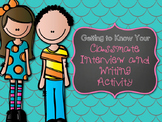 Getting to Know Your Classmate Writing Activity