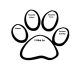 """Getting to Know You"" Paw Print"