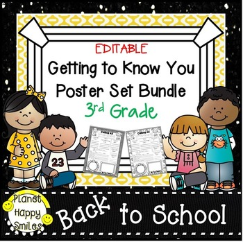 Getting to Know You Poster Set Bundle ~ 3rd Grade