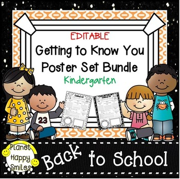 Getting to Know You Poster Set Bundle ~ Kindergarten