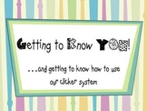 Getting to Know You Question Set for Classroom Responders - PDF format
