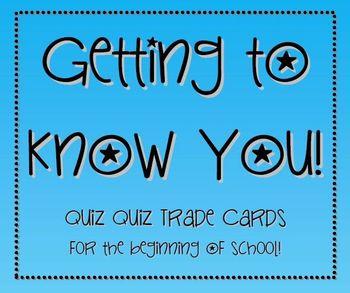 Getting to Know You Quiz Quiz Trade