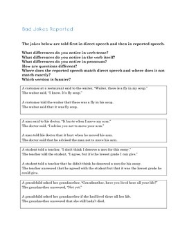 Getting to Know You, Reported Speech Style: A Class Interview Activity