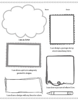 Getting to Know You Sheets (set of 4) for the Art Classroom