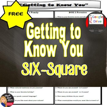 Getting to Know You – Six Square Activity