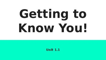 Getting to Know You Slideshow