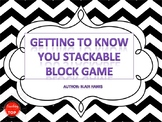 Getting to Know You Stackable Block Game