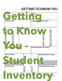 Getting to Know You (Student Inventory)
