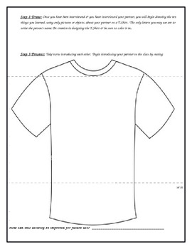 Getting to Know You T-Shirt Project: Student Interview