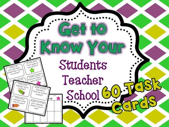 Getting to Know You Task Cards Bundle