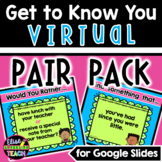 Getting to Know You VIRTUAL PAIR PACK   Back to School Rem
