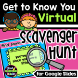 Getting to Know You Virtual Scavenger Hunt   Back to Schoo