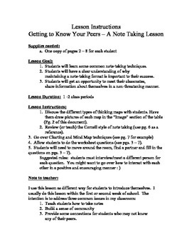 Getting to Know You With a Lesson in Note Taking
