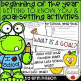 Getting to Know You and Goal Setting Activities