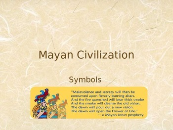 Getting to Know You and the Mayan Culture