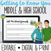 Getting to Know You for Middle and High School - Distance