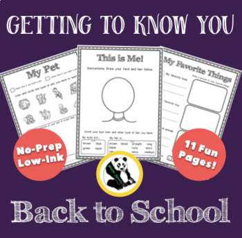 Getting to Know You in Class No-Prep! Print & Go!