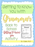 Getting to Know You with Grammar Guessing Game