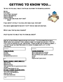 Getting to Know You/First Day Activity (editable)