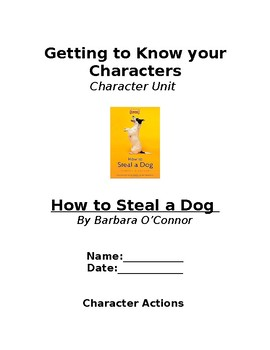 Getting to Know Your Characters - How to Steal a Dog