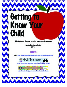 Getting to Know Your Child: A Back to School Form