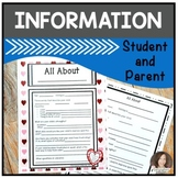 Getting to Know Your Child-All About Me Page