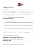 Getting to Know Your Child (Parent Survey)