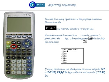 Getting to Know Your Graphing Calculator Lesson 2