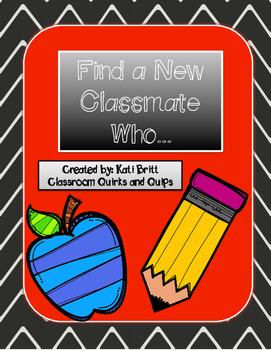 Get to Know Your New Classmates FREEBIE