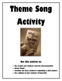 Getting to Know Your Students- Theme Song Activity (English Class)