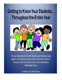 Getting to Know Your Students Throughout the Entire Year (