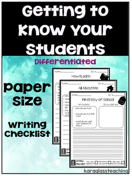 Getting to Know Your Students Worksheets