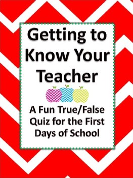 Getting to Know Your Teacher