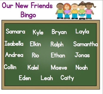 Getting to Know our Friends Name Bingo (for Smartboard)