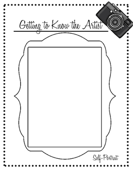 Getting to Know the Artist Worksheet for New Students