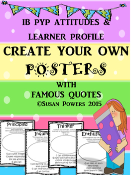Getting to Know the IB PYP Create Your Own Classroom Poste