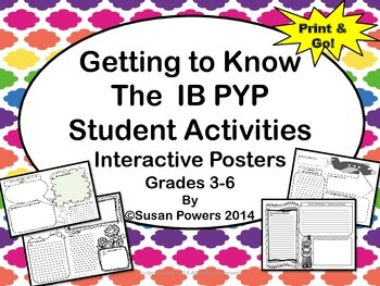 Getting to Know the IB PYP Students Interactive Posters Activtity
