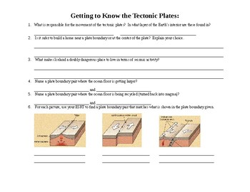 Getting to Know the Tectonic Plates Practice