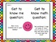 Getting to Know you- A back to school game for your math c