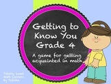Getting to Know you- A back to school game for your math class Gr. 4