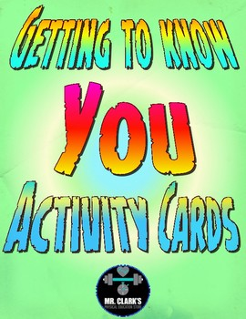 Getting to Know you Activity Cards