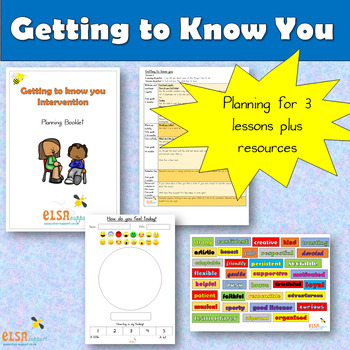 Getting to Know you - one to one session plans