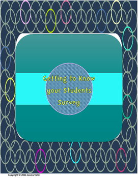Getting to Know your Student Survey