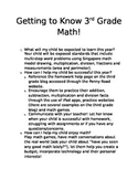 Getting to know 3rd grade math (common core hand out for c